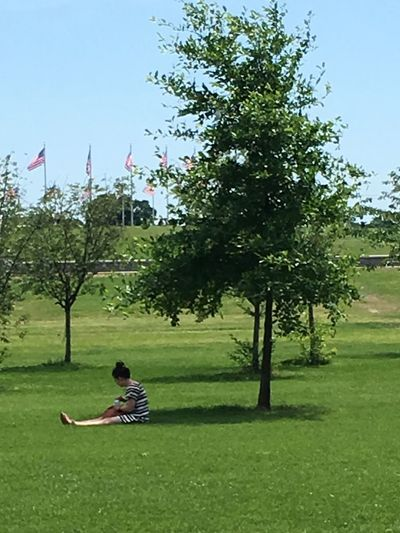 Made in the shade One Person Sitting Grass Day Off relaxing chilling One Woman Only