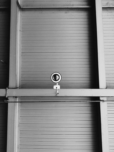 Closed shutters of shop