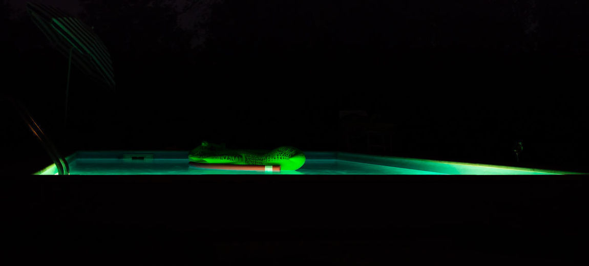 Crocodile Green Color Illuminated Night No People Outdoors Pool Swim Toy Swimming Pool Done That.