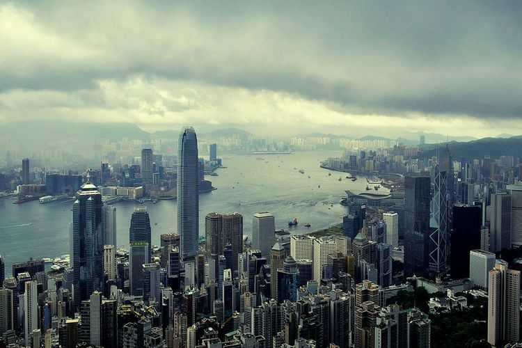 From Top To Valley Hello World Clouds And Sky Skyline Of Hong Kong Feel The Journey Discover Your City Essence Of Summer Sea And Sky On The Peak