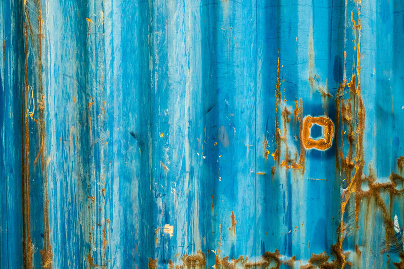 blue metal sheet rusty texture for background Architecture Backgrounds Blue Built Structure Close-up Corrugated Iron Damaged Day Door Full Frame Latch Metal No People Old Old-fashioned Outdoors Pattern Rotting Rough Rustic Rusty Steel Textured  Weathered Wood - Material
