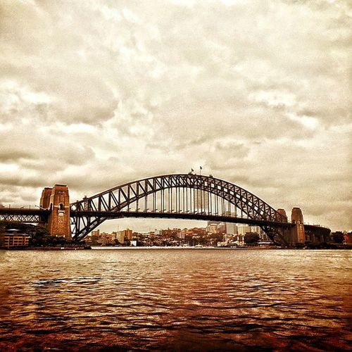 Mesmerizing Sydneyharbour Sydney Australia Headon15 nsw bridge harbourbridge bay river clouds cloud sky sea beauty webstapick insta_vibrant intentional central ruleofthirds