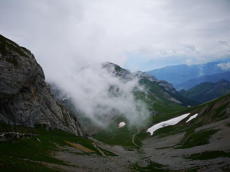 Heitertannliweg Pilatus Pilatus Mt. Mountain Fog Tea Crop Rural Scene Sky Landscape Mountain Range Cloud - Sky