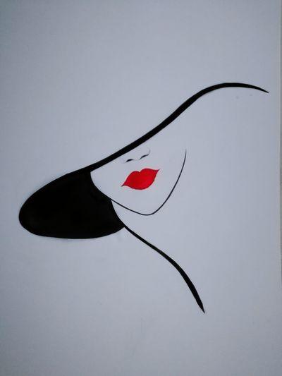 😀my drawing #şapkalı kadın Şapkalı Kadın Heart Shape No People Arrow - Bow And Arrow Close-up Indoors  Day