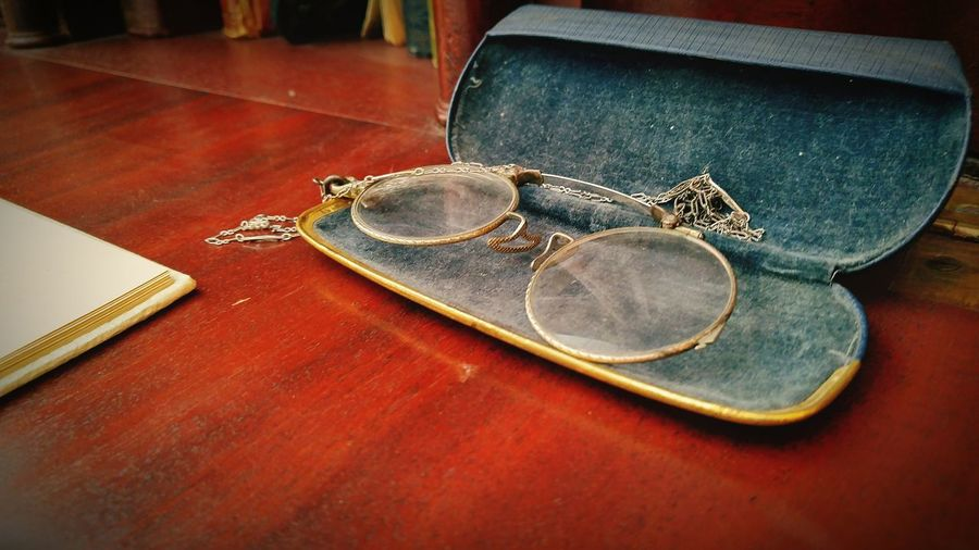Old Old-fashioned The Past Old Reading Glasses Man Made Object Close-up