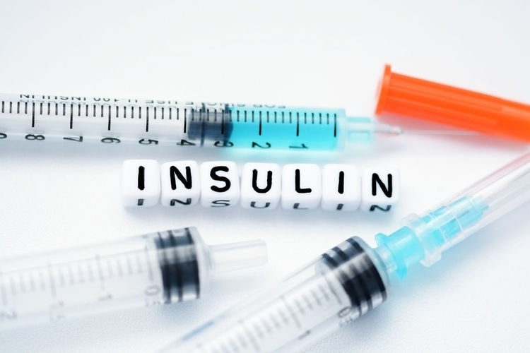 Insulin Syringes Healthcare And Medicine Injecting Insulin No People Syringe White Background
