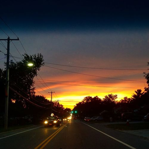 Sunset Traffic Road No People The Great Outdoors - 2017 EyeEm Awards Beauty In Nature Sky Peace