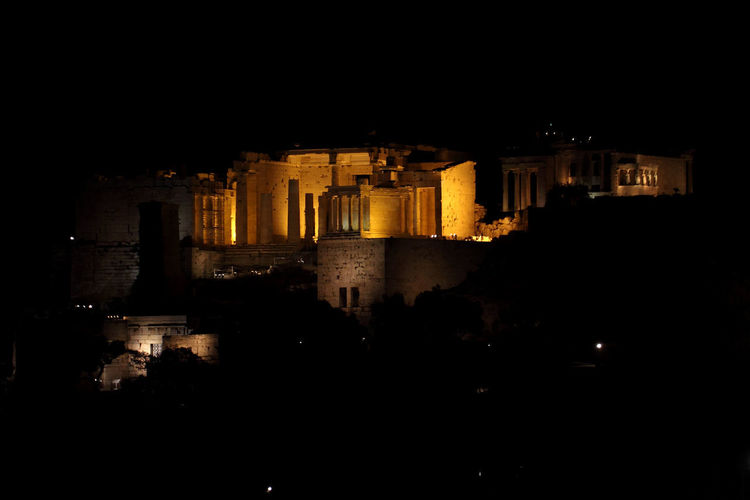 Parthenon, entrance Ancient Athens, Greece GREECE ♥♥ Parthenon Ruins Acropolis Ancient Ancient Civilization Architecture Athens Building Exterior Built Structure City Greece History Illuminated Night No People Old Ruin Outdoors Sky The Past Tourism Travel Destinations