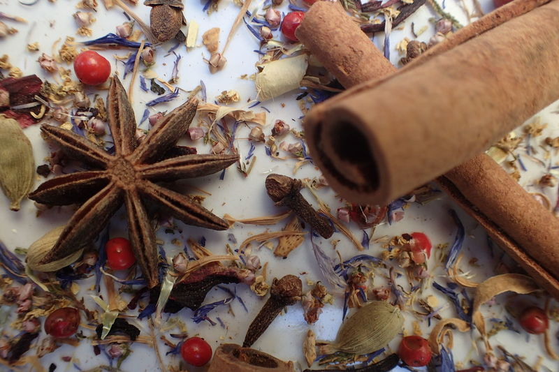 No People Clove Spice Cinnamon Food Close-up Cloves Backgrounds Cardamom Anise Ingredient Christmas Time Star Anise Winter Edible Flowers Dried