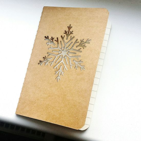 Lasercut Snow ❄ Snowflake Notebook