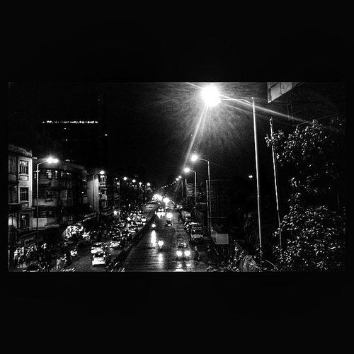 City Lights ??? BackToJuly Night Rainy Mumbai Monsoon ?