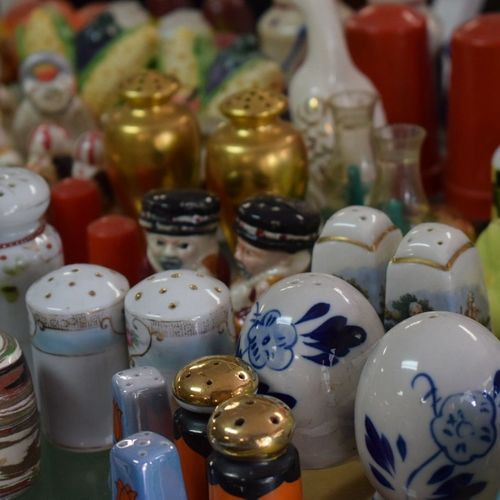 Store No People Indoors  Large Group Of Objects Variation Business Finance And Industry Retail  Choice Market Close-up Day Textured  Salt And Pepper Shakers Ceramic Ceramics Colored Brightly Coloured