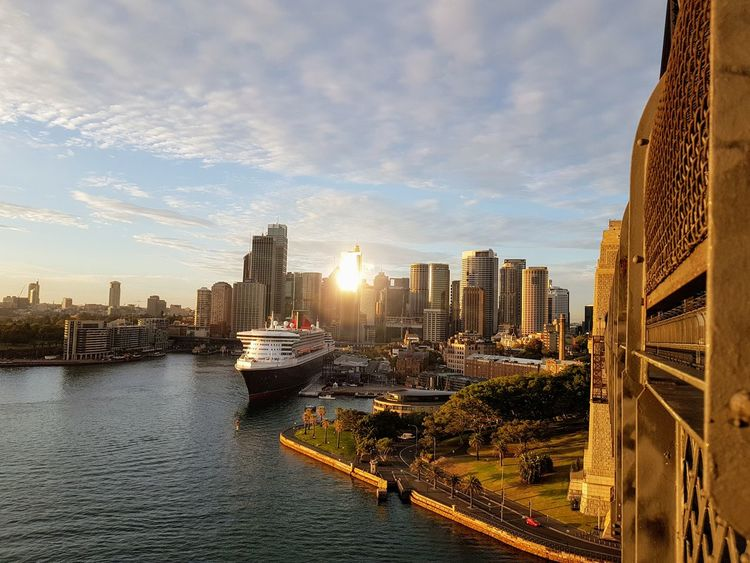 Queen Mary 2 Urban Transportation Shoreline Circular Quay Cruise Ship Waterfront Ship Cunard