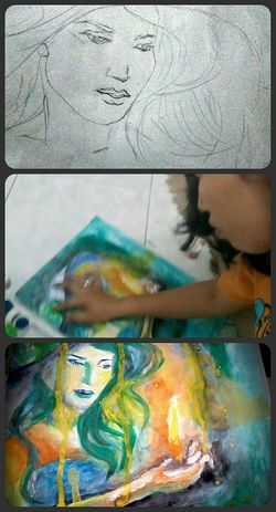 Process 🎨🎭 Art Art, Drawing, Creativity Painting Drawing Process Drawing Colors Live To Learn