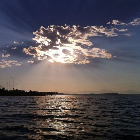Killer clouds over Alki Beach. #seattle #sunset Sunset Seattle