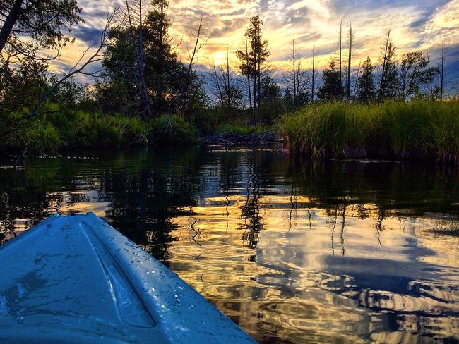 Kayak Kayaking Photography Cut River Gorgeous Sunset Northernmichigan