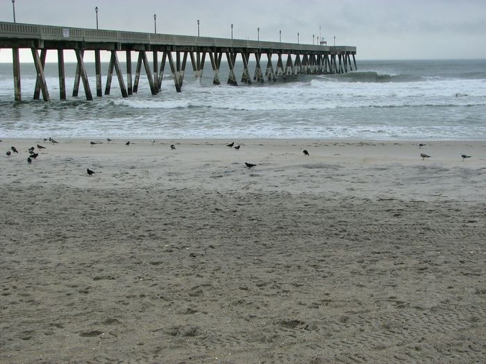 Sea Sand Beach No People Architecture Outdoors Horizon Over Water Day Sky Wave Wet Abstract Johnny Mercer's Pier Wrightsville Beach NC Wrightsville Beach Thunderstorm Sea Life Nature Power In Nature Beauty In Nature Close-up Tranquility Water Pier Built Structure