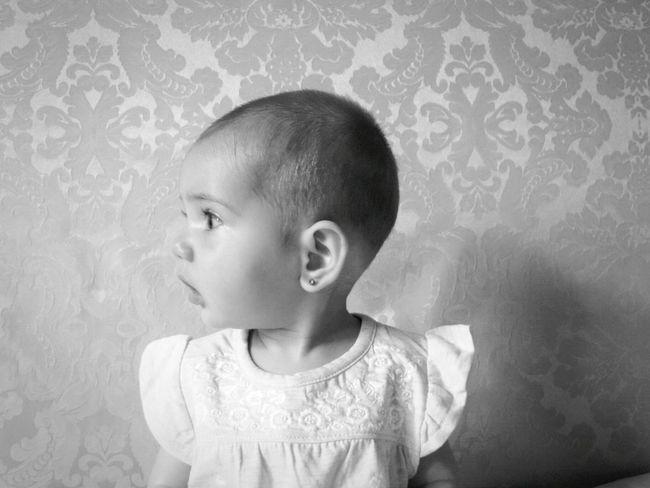 Blackandwhite Black & White White Baby Photo  Watching Baby Babygirl Profile Detail Neverendinglove