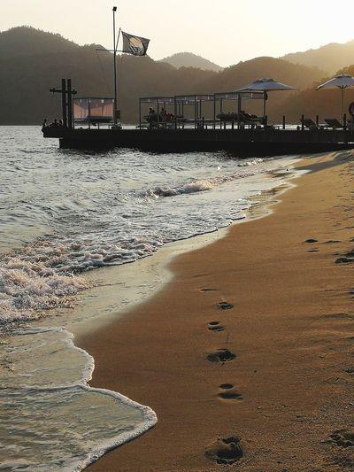 Oil Pump Salt - Mineral Water Mountain Industry Sunset Sea Beach Occupation Sky