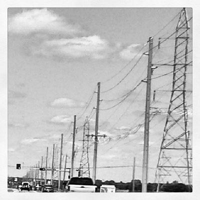 Wired Bnwart Bnw Bnwalma Wired wiry wires ShotOnTheFly streetalma poles RoadTrip clouds roadside