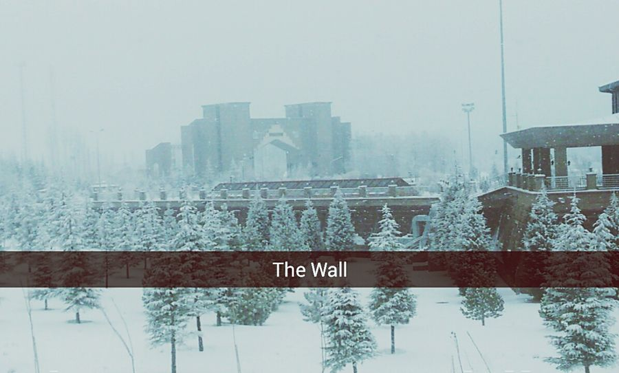 Thewall Wall University University Campus Snow Hello World School Life  Snapchat Gameofthrones Snow ❄ Snowing Its Cold Outside ıt's Cold Outside ıt's Cold Outside