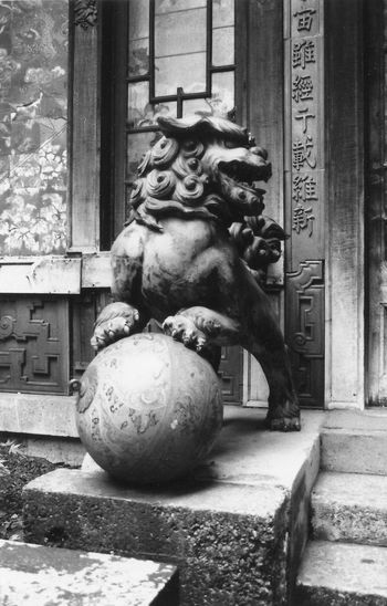 Lion Paris Animal Representation Animal Themes China Chinese Culture Cinema Lion - Feline Outdoors Pagode Sculpture Statue
