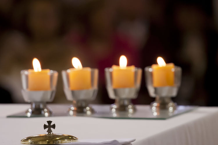 Mercedarias Altar Candle Candles Christianism Church Cross Mercedarians Religion And Tradition altars Candel Candels Candle Candlelight Celebration Churches Close-up Flame Focus On Foreground Indoors  Mercedarias No People Religion Religions Religious  Religious Place