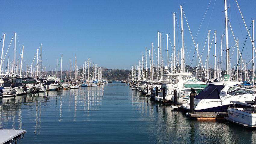 Yatchs SF Sausalito Water Reflections Boats Mirrored # sailboats