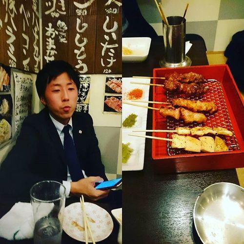 昨日の4食目は、にしやんと串。 京都 ホルモン串