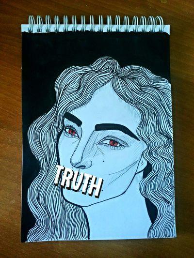 Truth Drawing Graphic Skribbles Sketch Art My Art