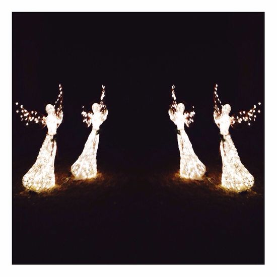 Angel Angels Christmas Light Night Magical Magic Awesome Flashing  Beauty