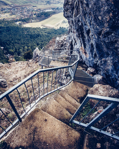 Felsenpfad Nature Photography Architecture Built Structure Connection Day Environment Formation High Angle View Hohe Wand Landscape Mountain Mountain Range Nature No People Outdoors Railing Rock Rock Formation Scenics - Nature Staircase Steps And Staircases Tranquility Tree
