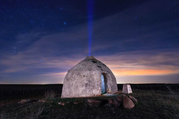 Conectes Whittier the space Night Sky Long Exposure Landscape No People Outdoors Illuminated Nightphotography Building Exterior Noperson Night Photography Rural Rural Scenes Choza