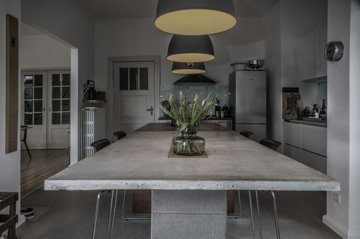 Kitchen Architecture Cement Chair Clock Day Design Heritage Home Home Interior Home Showcase Interior Illuminated Indoors  Interior Interior Design Interior Views Kitchen Kitchenart Living No People Plant Table Vase View