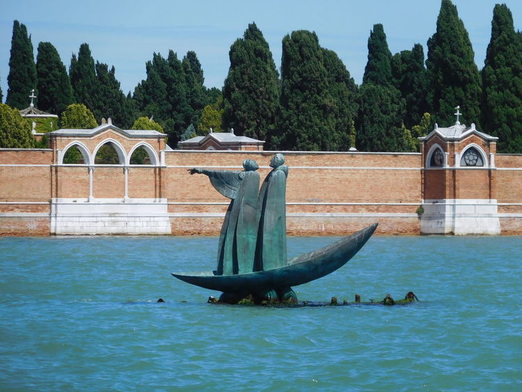 Cemetary Charon Cypress Trees  Outdoors San Michele Transportation Water Waterfront