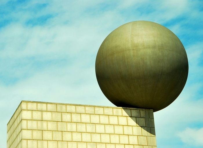 Sphere On Corner Of Pedestal