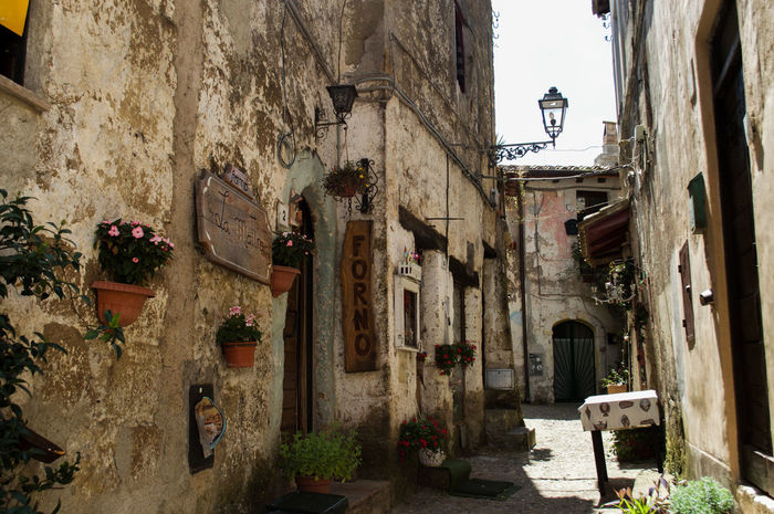 Forno Oven Building Exterior Calcata Day Italy Mediterranean Village No People Old Houses Outdoors Pizzeria Town Village