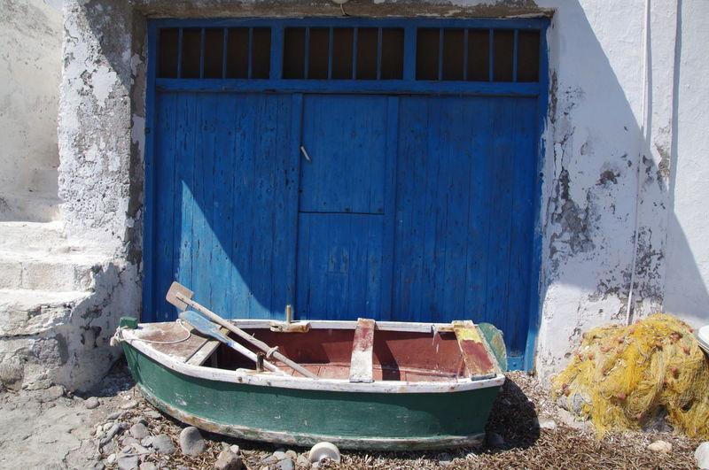 Griechenland Griechische Inseln Milos Island Netz Abandoned Architecture Boot Building Exterior Built Structure Day Fischerhaus Greece Milos Nautical Vessel No People Outdoors Wood - Material