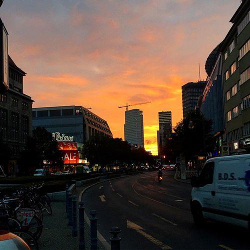 Summer ☀ Sundown EyeEm Gallery Berlinstagram Amazing Yesterday Sonnenuntergang Berlin Picoftheday IPhoneography Wittenbergplatz Europe Berliner Ansichten Waldorf Astoria Berlin Kudamm