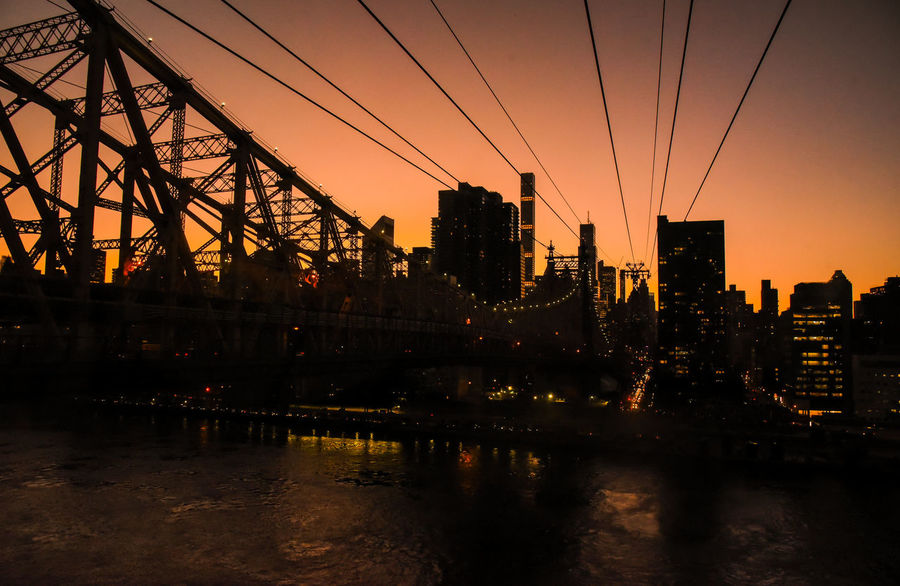 Roosevelt Island cable car, NYC. Photographed by Cooper Billington. Cable Car City Life Colors Roosevelt Island Landscape Lifestyles Photo Photography Sunset Yellow Paint The Town Yellow