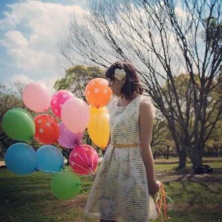 懐かしの写真 写真見てたら出てきた Photo モデル Model 被写体 風船 カラフル Balloon Colorful ワンピース ふわふわ 作品撮り Dot ドット柄 水玉模様 公園 Instagramjapan Instagramjapan Instagood Like Lovers_nippon_artistic Japan