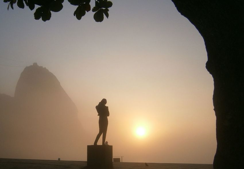 Beautiful Background Beauty In Nature Behind Tree Chopin Eyeem Market Eyeemphoto Foggy Morning Memories Silhouette Statue Of Chopin Suggarloaf Sunset Sunset_collection Tranquility Vacations