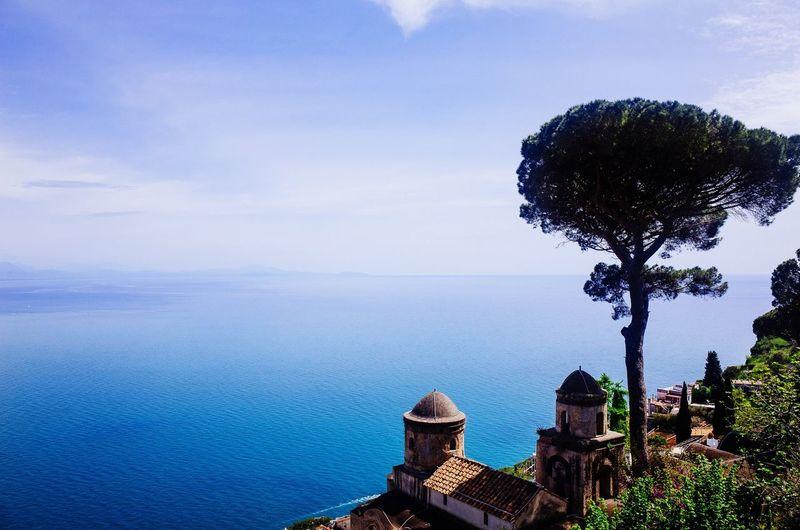 Scenic view of sea at amalfi coast