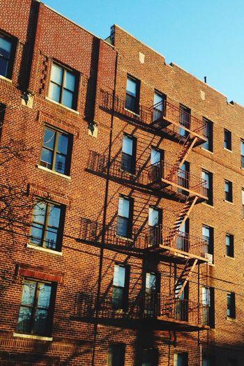 Building Building Exterior Buildings & Sky Fireescape Exterior Light And Shadow