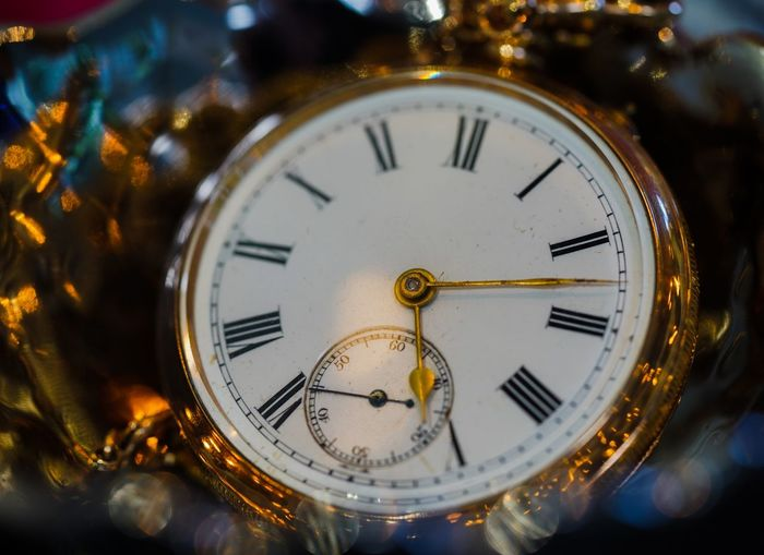 Close-up of pocket watch