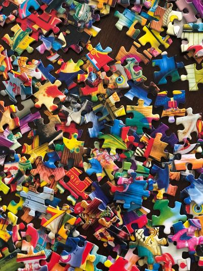 Puzzle Multi Colored Large Group Of Objects Abundance Full Frame Backgrounds Choice Variation No People Still Life Pattern Indoors  Art And Craft Decoration Close-up Design Creativity