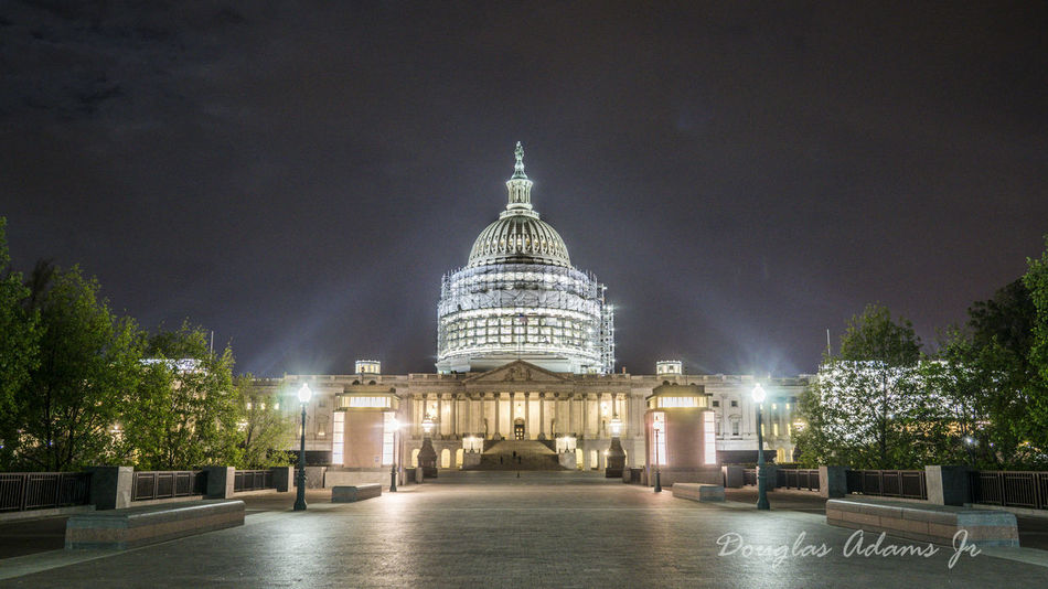 Architecture City DCnights Dome Government Illuminated Night No People Outdoors Politics Politics And Government Sky Travel Destinations Tree