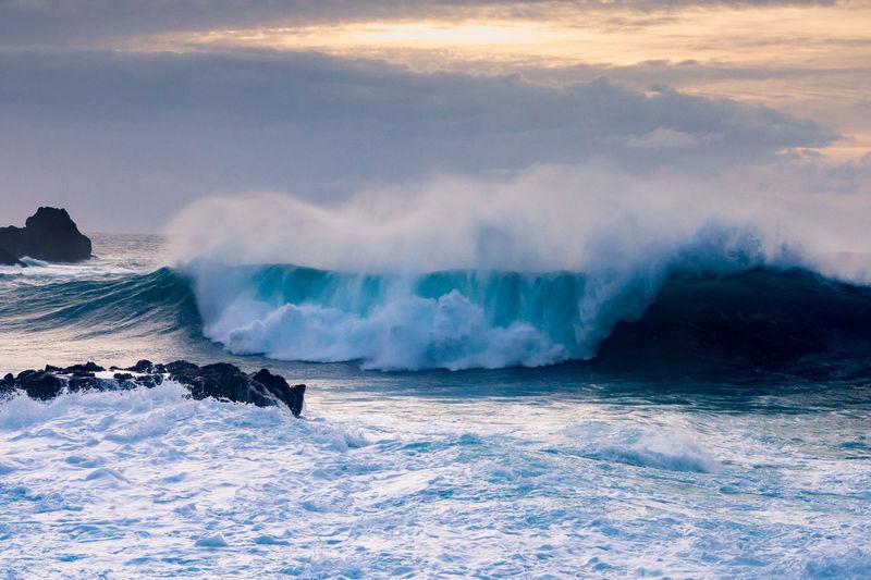 Ocean wave on tenerife island