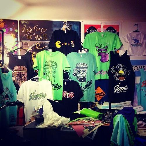 hammering out shirts like crazy. Festivalshirts Ourclothingline $$ Bigdub jamptop