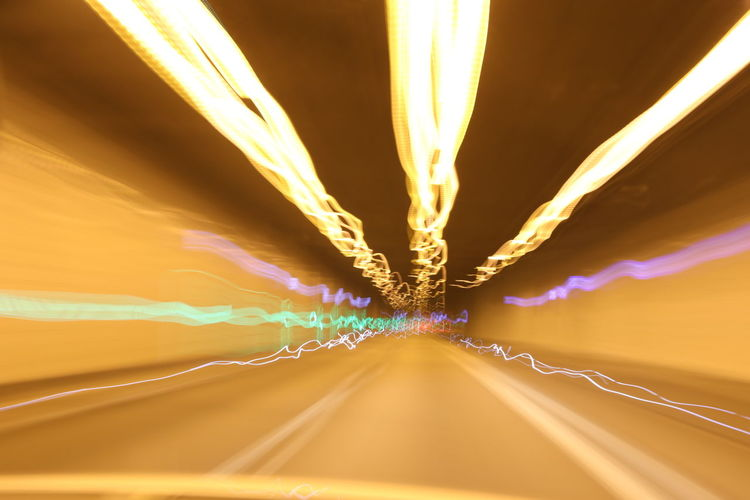Driving Driving In Tunnel Drivingshots Illuminated Light Lightpainting Road The Way Forward Tunnel Tunnel Vision Break The Mold